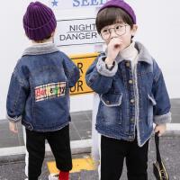 男童牛仔外套秋装男孩洋气上衣儿童秋冬装潮