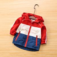 男童外套秋冬童装宝宝加绒夹克风衣儿童冲锋衣外套