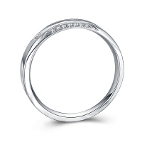 罗曼蒂珠宝白18K金情侣钻石对戒结婚求婚钻石戒指男女钻戒正品需定制