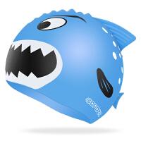 儿童泳帽女童男童宝宝长发防水可爱护耳硅胶游泳帽