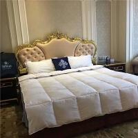 羽丝绒被酒店加厚保暖棉被双人被芯被子 白色