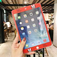 新款2018iPad卡通贴膜mini3苹果4迷你1前膜钢化彩膜Air1/2膜可爱