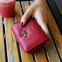 包女式多卡位韩国可爱卡片包个性简约皮迷你短款小钱包女