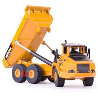 汇纳 仿真合金铰接式自卸车模型 儿童滑行工程玩具车 摆件