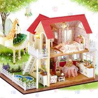智趣屋diy小屋公主小屋手工拼装模型房子送女孩生日礼物创意新奇
