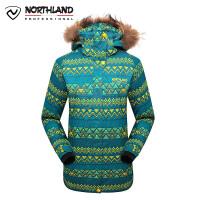 【品牌特惠】诺诗兰冬季户外女式印花防水透气防风保暖滑雪滑板服GK032710