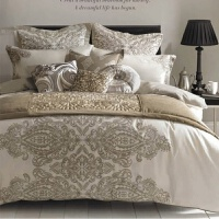 床上用品全棉�棉六件套床笠美式床品床�伪惶�W式��床上四件套 全棉��