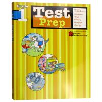 Flash Kids英语预测卷一年级 英文原版 Test Prep Grade 1美国小学生教辅教材 哈考特家庭英文练习
