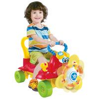 多功能电动灯光万向空中巴士 婴幼儿音乐学步车宝宝推拉滑行车