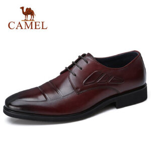 camel 骆驼男鞋2018春季新品英伦时尚轻盈商务正装皮鞋商务皮鞋