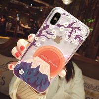 樱花富士山手机壳xs max女款流沙xr苹果7plus简约8p防摔6s i6/6s 流沙 富士山