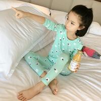 童装儿童家居服春秋薄款长袖女童睡衣套装小女孩空调服