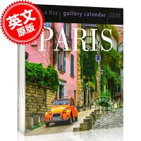 现货 2020年日历 巴黎 一天一页画廊日历 英文原版 Paris Page-A-Day Gallery Calendar 2020