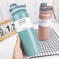 保温杯 韩版创意清新文艺男女学生大容量运动水壶便携情侣随手杯子蛋白粉摇摇杯