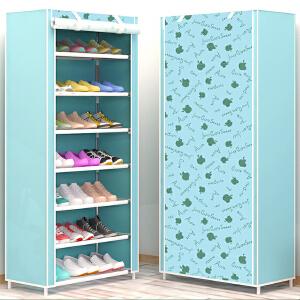 御目 鞋柜 简易鞋架鞋柜多层钢管组装家用防尘小鞋架学生宿舍经济型多功能收纳鞋柜置物架置物柜子 创意家具