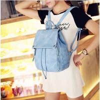 茉蒂菲莉 双肩包学生 女学院风新款韩版潮流pu皮女包时尚纯色帆布搭扣防偷休闲女士包包