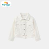 【1件2折】马卡乐童装22春新款女宝宝外套牛仔背部印花女童外套