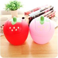 懿聚堂 可爱草莓迷你桌面垃圾桶 韩式甜美摇盖式优质收纳桶