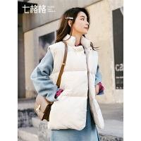 七格格马夹女2018新款韩版宽松bf学生无袖棉衣袄冬季外套加厚