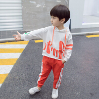 童装男童套装春秋装小童运动卫衣儿童秋装