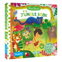 First Stories BUSY 系列纸板书 童话故事篇 The Jungle Book 森林王子操作活动书 启蒙
