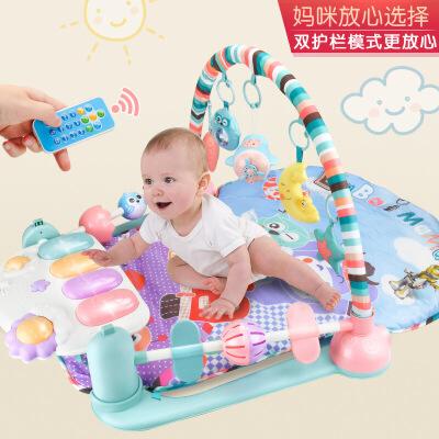 婴儿玩具脚踏钢琴健身架新生幼儿音乐游戏毯宝宝0-12个月  生日礼物六一圣诞节新年礼品