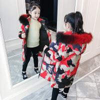 女童棉衣外套儿童棉袄冬季中长款