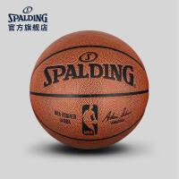 斯伯丁重量型篮球室内训练专用真皮牛皮手感学生篮球官方正品7号74-880Y