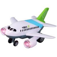 C919飞机玩具模型男孩卡通大号惯性声光客机耐摔太空巴士LEFEI