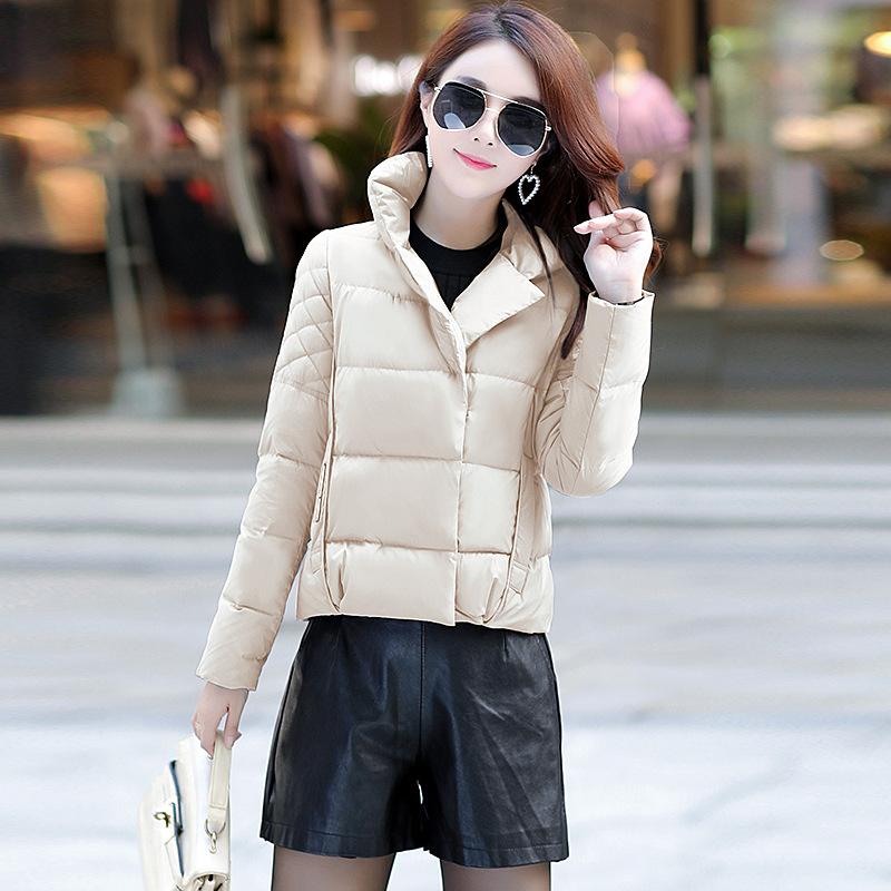 轻薄羽绒服女士短款2018新款韩版潮时尚小个子冬季外套欧货欧洲站
