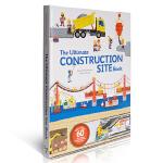 进口英文原版 建筑师 The Ultimate Construction Site Book 抽拉翻翻书 施工现场男孩