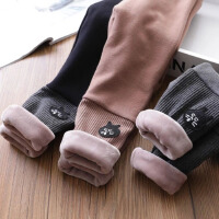 女童宝宝打底裤 童装儿童保暖拼接螺纹靴裤