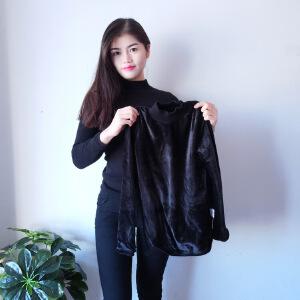 2018早春季加绒针织衫毛衣女套头长袖打底衫韩版修身半高领