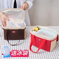 保温饭盒袋手提包便当包防水牛津布大号带饭手提袋手拎饭包饭盒包
