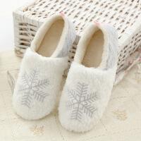 秋冬季雪花毛绒保暖包跟棉拖鞋室内居家鞋月子鞋家居拖鞋女拖