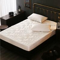 全棉床笠五星级酒店加厚夹棉床垫防滑1.8m纯棉席梦思床护垫保护罩
