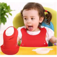 动漫宝贝 婴儿防水口水巾 儿童硅胶围兜
