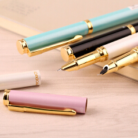 晨光文具学生用礼盒装练字钢笔抽墨水0.5mm标准尖金属钢笔