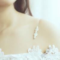 隐形肩带无痕透明内衣配件文胸吊带夏季挂脖女性感一字露肩 珍珠双肩(小钩子) 钩内宽1.2总