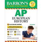 【预订】Barron's AP European History, 9th Edition 9781438010670