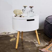 空大实木日式简易简约现代小桌子茶几沙发边几圆几床头榻榻米桌子