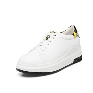 ELEISE美国艾蕾莎春季上新003-V136-1欧美松糕底女士乐福鞋小白鞋