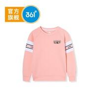 【1件4.5折到手价;89.6】361度女童套头卫衣2020年春季新品 K61933302