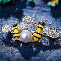 甜美小蜜蜂胸针可爱小清新外套领针别针衣帽配饰女