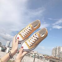 1970s脏橘帆布鞋女复古港风男女鞋子新款韩版复古黄板鞋 鸡蛋黄 女款