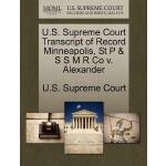 【预订】U.S. Supreme Court Transcript of Record Minneapolis, St