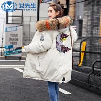 【年货节 直降到底】棉衣女2020冬季新款韩版中长款宽松加厚大码学生棉服棉袄外套