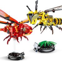 拼插积木昆虫手办系列大黄蜜蜂机械积木减压神器益智玩具 满月周岁生日礼物六一圣诞节新年礼品
