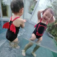 小中大童保暖速干婴儿泳帽带角温泉泳装 欧美风儿童泳衣男童宝宝连体防晒泳装