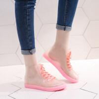 果冻透明可爱短筒雨鞋女防水鞋胶鞋套鞋水靴韩国时尚雨靴